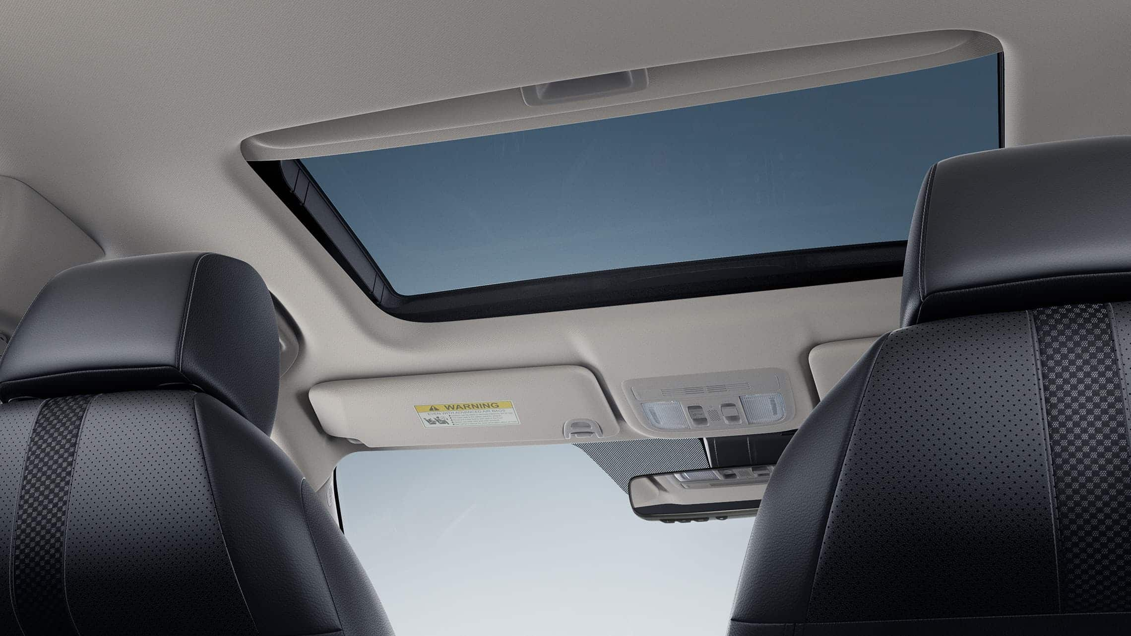 One-touch power moonroof detail in the 2020 Honda Civic Touring Sedan.